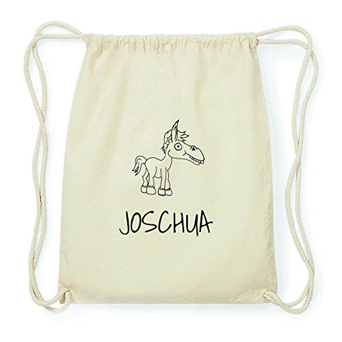 JOllipets JOSCHUA Hipster Turnbeutel Tasche Rucksack aus Baumwolle Design: Pferd O1a0PmXWZC