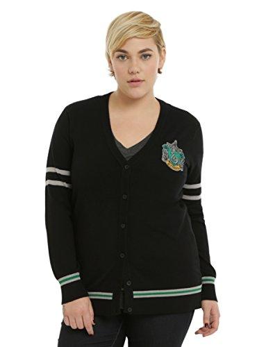 Harry Potter Slytherin Girls Cardigan Plus Size