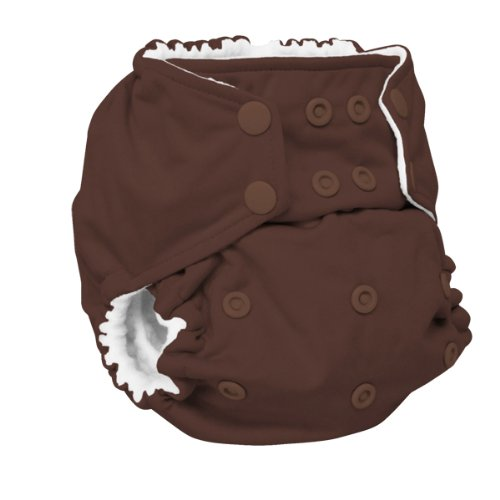 Rumparooz One Size Cloth Pocket Diaper Snap, Root Beer by Rumparooz