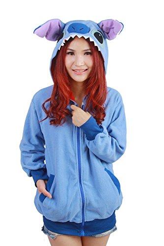 Es Unico Blue Stitch Hoodie for Adult and Teens (Medium) (Stitch Sweater)