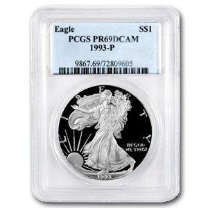 1993-P (PROOF) Silver American Eagle - PR-69 DCAM PCGS