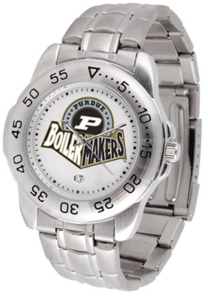 NCAA Purdue Boilermakers Men's Gameday Sport Watch with Stainless Steel Band
