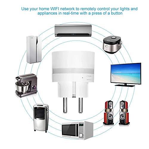 Smart WLAN Steckdose, Alexa Smart Steckdose Mit LED, Smart Plug Kompatibel mit Google Assitant und Alexa IFTTT, und Timing-Funktion, Fernbedienung, Für iOS Android App 2 Pack