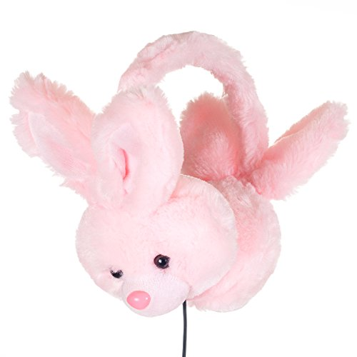 Happy Trails 80-AP083 Plush Stereo Headphones, Bunny