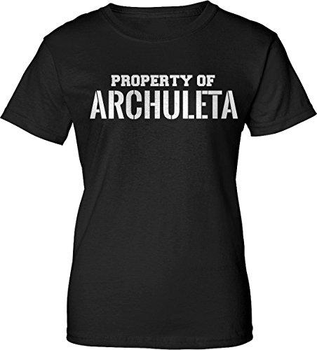 Archuleta T-shirt (Property of ARCHULETA Womens Ladies Black T-Shirt e2 S)