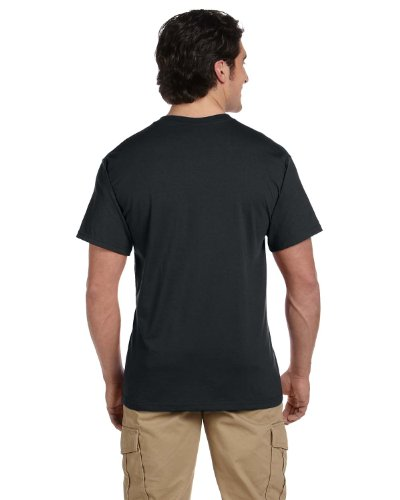 Jerzees mens 5.6 oz. 50/50 Heavyweight Blend Pocket T-Shirt(29P)-BLACK-XL