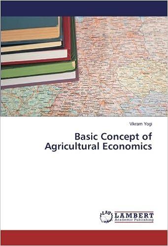 Basic Concept of Agricultural Economics