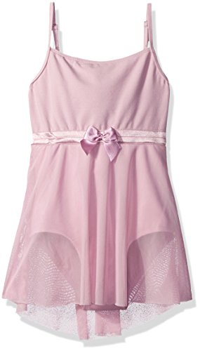 - Danskin Girls' Big (7-16) Camisole Skirted Leotard, Lavender/Bow Large (12/14)
