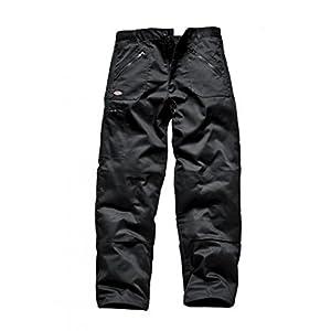Mens Dickies Action Work Trousers WD814 in Black & Navy Blue Redhawk Short Leg