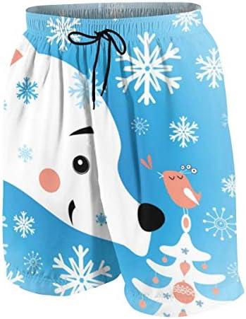 キッズ ビーチパンツ くま 雪の森 サーフパンツ 海パン 水着 海水パンツ ショートパンツ サーフトランクス スポーツパンツ ジュニア 半ズボン ファッション 人気 おしゃれ 子供 青少年 ボーイズ 水陸両用