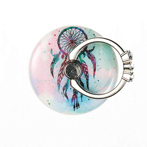 (Assesi Mell Creative Universal Cute Round POP Phone Holder Titulaire Halter Poseedor Expanding Grip Ring Convenient Universal (D))