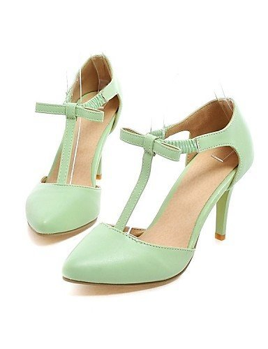ShangYi Women's Shoes Leatherette Stiletto Heel Heels / Pointed Toe Heels Party & Evening / Dress / Casual Green / Red Green SJ2p7Ik