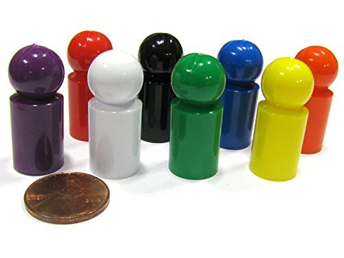 (Koplow Games Set of 8 Ball Pawns 30mm Peg Pieces for Board Game Play - Assorted Colors)