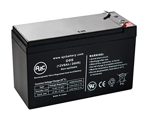 CP825LCD 12V 9Ah UPS Battery - This is an AJC Brand17 Replacement
