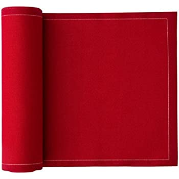 Cotton Dinner Napkin - 12.6 x 12.6 in - 12 units per roll - Lipstick Red