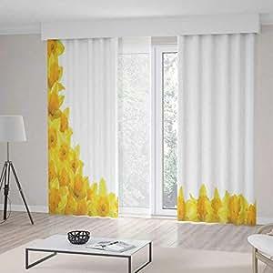 Amazon.com: TecBillion Living Room Curtains,Daffodil Decor