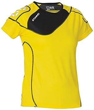 Stanno Montreal - Camiseta de fútbol para mujer (manga corta), color - amarillo y negro, tamaño XXL: Amazon.es: Deportes y aire libre