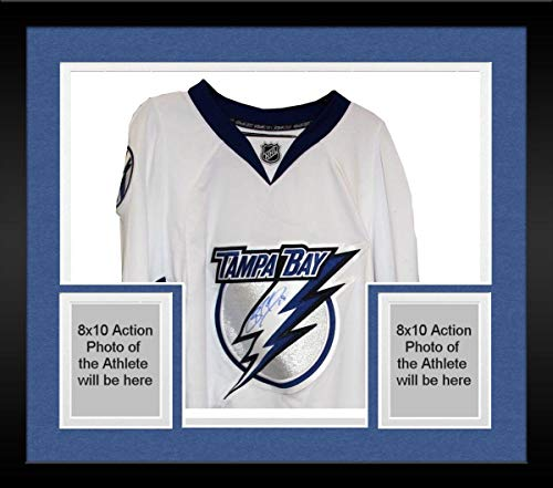 Richard Jersey Autographed - Framed Brad Richards Autographed Tampa Bay Lightning Authentic White Reebok Jersey - Steiner Sports Certified