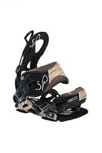 SP Fastec Sistarr - Fijaciones para tabla de snowboarding para mujeres (talla M), color café