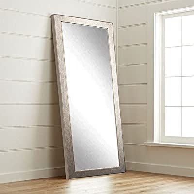BrandtWorks BM014T Subway Silver Floor Mirror, 71 x 32 - Quality American craftsmanship Hanging hardware for vertical or horizontal installation Included Crafted by hand - mirrors-bedroom-decor, bedroom-decor, bedroom - 414GEwun4UL. SS400  -