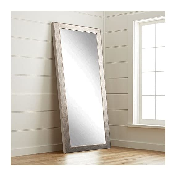 BrandtWorks BM014T Subway Silver Floor Mirror, 71 x 32, - Quality American craftsmanship Hanging hardware for vertical or horizontal installation Included Crafted by hand - mirrors-bedroom-decor, bedroom-decor, bedroom - 414GEwun4UL. SS570  -
