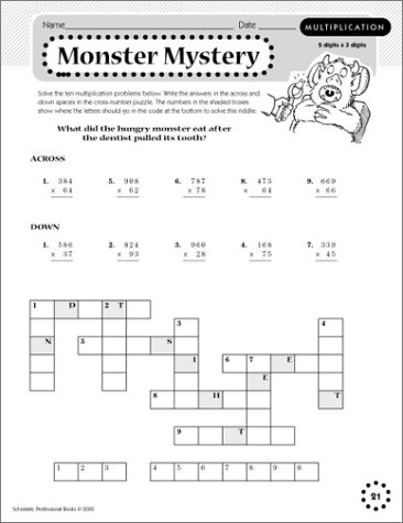 Math Worksheets free printable math worksheets 5th grade : 40 Fun-tabulous Puzzles for Multiplication, Division, Decimals ...