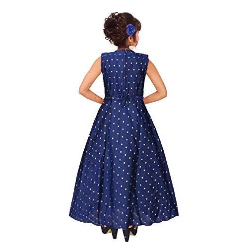 414GFEDodQL. SS500  - 4 YOU Fancy Girl Long Frock (Blue)