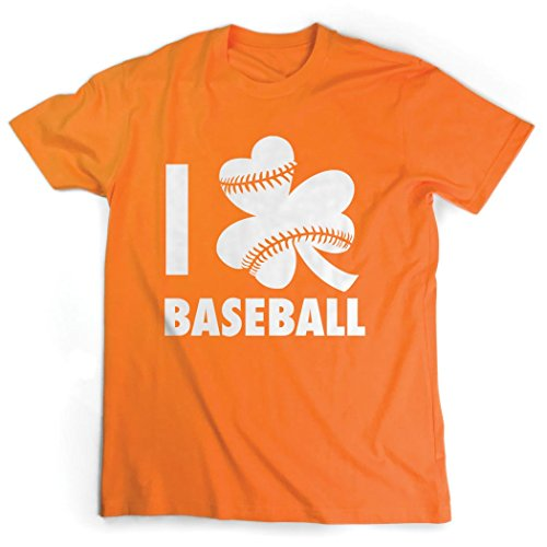 - ChalkTalkSPORTS I Shamrock Baseball T-Shirt | Baseball Tees Orange | Adult X-Large