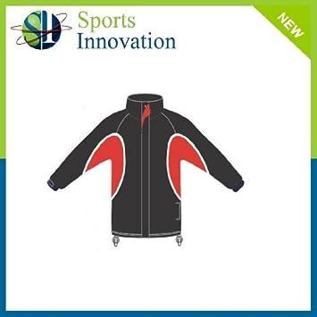 Waterproof Training Top Full Zip - Black Red- SENIOR  Amazon.co.uk ... 55b086cc0