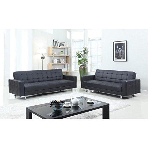 luxury umklappbares sofa set 2 3 sitzer 180 x 84 x 81 cm 220 x 190 x 81 cm kunstleder und. Black Bedroom Furniture Sets. Home Design Ideas