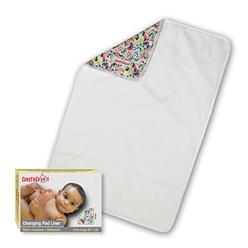 DaffaDoot Luxurious Changing Pad Liner, WaterProof, Plush, Hypoallergenic, Machine Washable / Dryable, Perfect on the Changing Table, as a Travel Changing Mat, or as a Tummy Time Mat