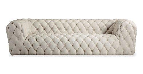 Baxter Sofa - Kardiel Cumulus Mid-century Modern Tufted Sofa, Urban Hemp Vintage Twill