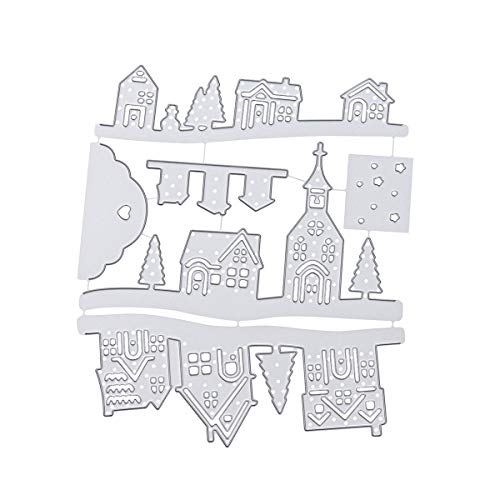 Christmas Cutting Die Embossing,Flowers,Words,Metal Die Cuts Stencil Scrapbooking Crafts for DIY Photo Album Decorative Paper Cards Making (T)