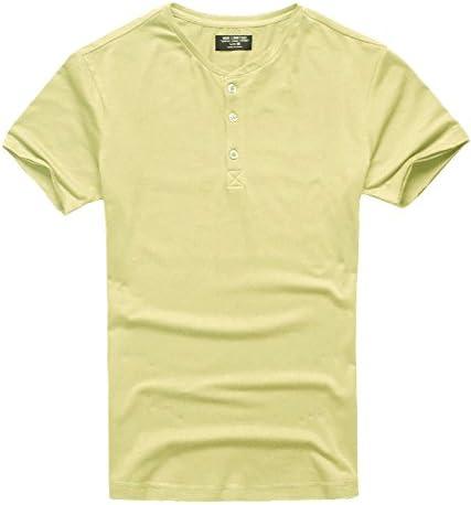 [ミックスリミテッド] Tシャツ メンズ ヘンリーネック タイト 半袖 無地 カットソー vネック uネック
