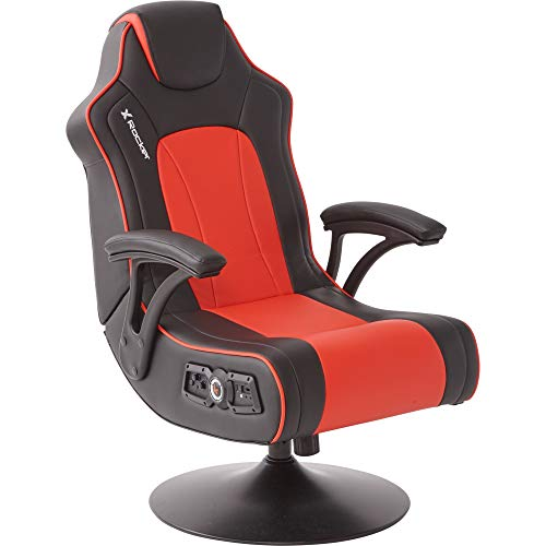 X Rocker Torque 2.1 Gaming Chair - Silla para Juegos, Color Negro y Rojo