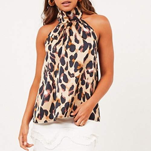OYSOHE damska koszulka bez plecÓw, z wiązaniem na szyi, z nadrukiem: Odzież