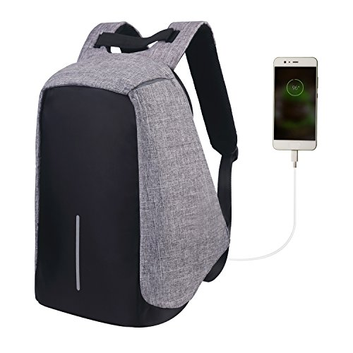 Water Resistant Notebook - Water Resistant Laptop Backpack,Lightweight computer backpack with USB Charging Port large capacity for travel,business