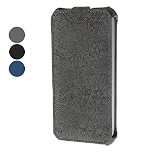Denim Pattern Flip Up and Down Design Full Body Case for iPhone 5/5S (Assorted Colors) --- COLOR:Blue