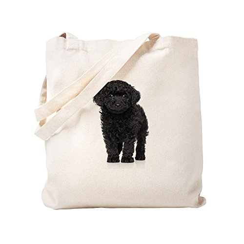 CafePress - Toy Poodle Puppy Over White Background - Natural Canvas Tote Bag, Cloth Shopping Bag -