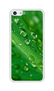 iPhone 5C Case Color Works Water Drop On Grass White PC Hard Case For Apple iPhone 5C Phone Case