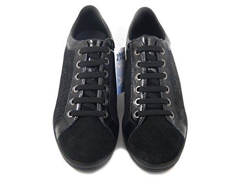 Nero Osvaldo Zeppa In Imac 4cm 82550 i17 E Lucida Sneaker Pelle Camoscio Pericoli rwBU8r