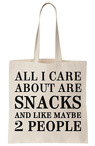 About People Maybe Snacks Canvas Like And All Tote Care 2 Bag I Are E4w0qzC