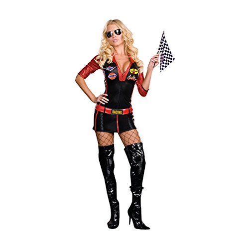 [Ride It Adult Costume - X-Small] (Sexy Black Race Car Driver Costumes)