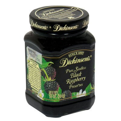 Dickinson's Pure Seedless Black Raspberry Preserves, 10-Ounce (Pack of 6) -