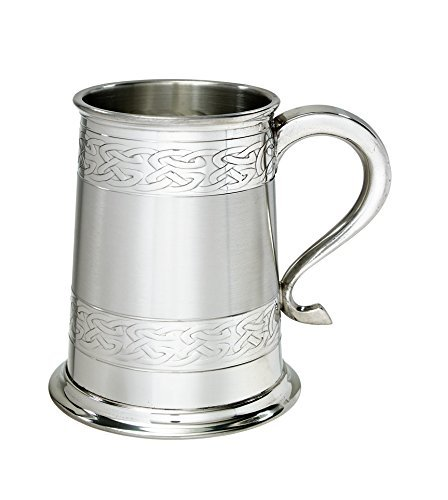 Wentworth Pewter Embossed Celtic Bands 1 Pint Pewter tankard by Wentworth Pewter
