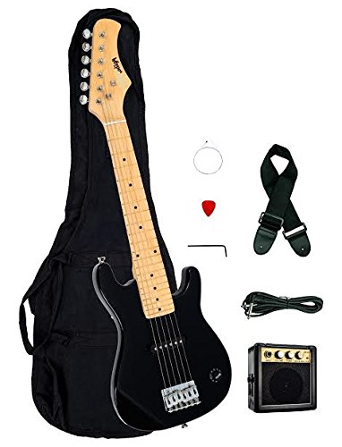 """1/2 Half Size Kids Black 30"""" Inch Electric Guitar and Amp..."""