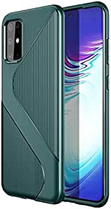 For Samsung Galaxy S20 Plus Protection TPU S-Type Texture Business Drop Protection Case Cover-Green