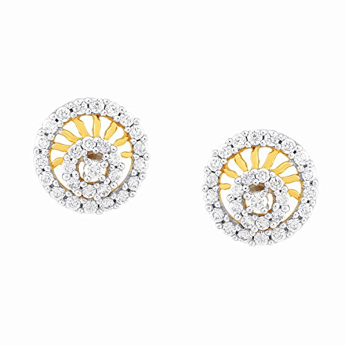 Giantti 14 carats Diamant pour femme Boucles d'oreille à tige (1.169 CT, VS/Si-clarity, Gh-colour)