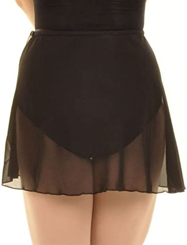Capezio Girls Chiffon Wrap Skirt Black Large-Xlarge