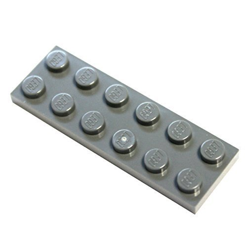 LEGO Parts and Pieces: Dark Gray (Dark Stone Grey) 2x6 Plate x50
